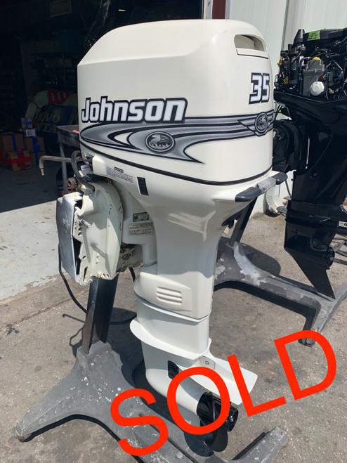 "2001 Johnson 35 HP 3 Cylinder Carbureted 2 Stroke 20"" (L) Outboard Motor"