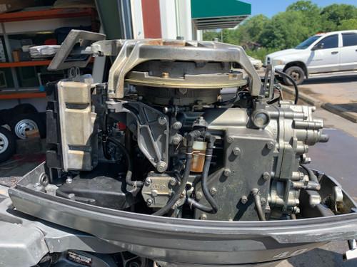 """1985 Mariner 40 HP 2 Cylinder Carbureted 2 Stroke 15"""" (S) Tiller Outboard Motor"""
