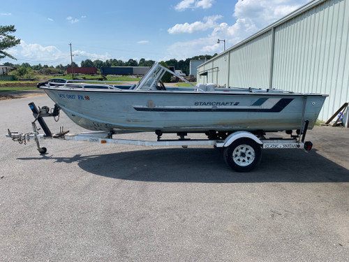 1985 Starcraft SS-160 16' Aluminum Bass Boat with Trailer
