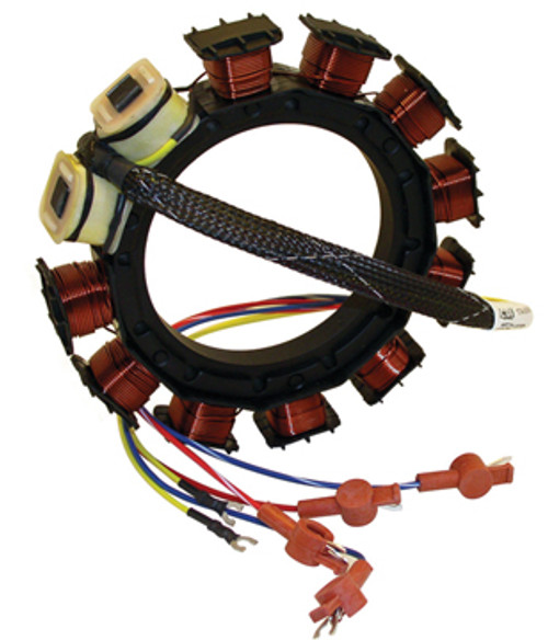 New CDI Mercury/Mariner 3/4 Cylinder, 9 Amp Stator Replaces OEM # 398-858535A13