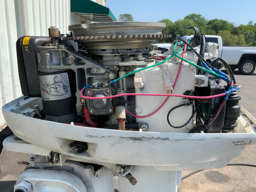 """1977 Johnson SeaHorse 35 HP 2 Cylinder Carbureted 2 Stroke 20"""" (L) Outboard Motor"""