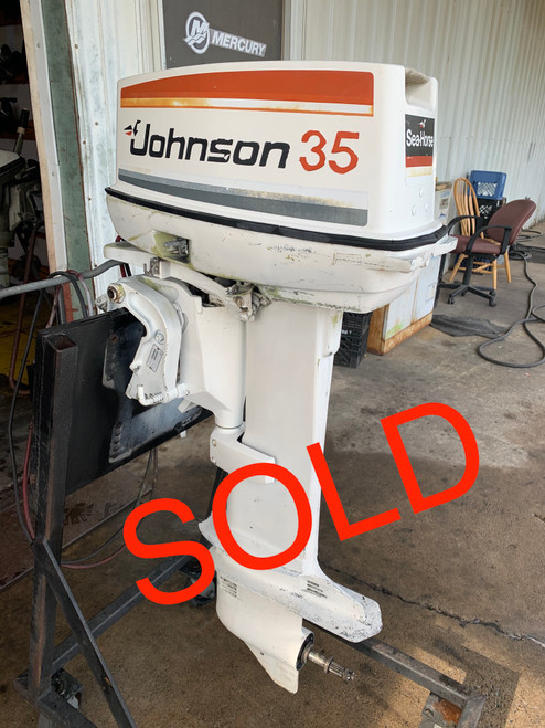 "1978 Johnson SeaHorse 35 HP 2 Cylinder Carbureted 2 Stroke 20"" (L) Outboard Motor"