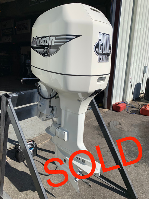 "1996 Johnson 200 HP OceanPro V6 Carbureted 2 Stroke 25"" (X) Outboard Motor"