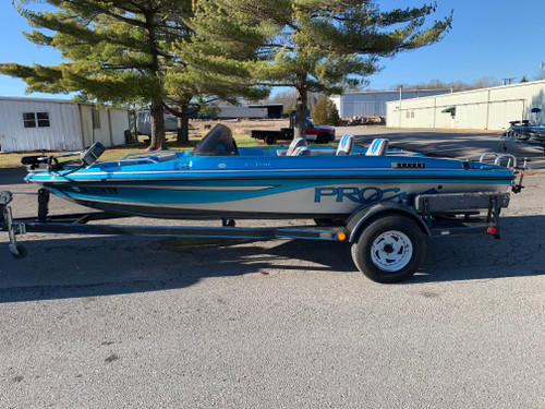 1995 ProCraft V-170C 17' Fiberglass Bass Boat with Trailer