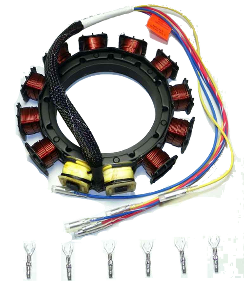 New CDI Mercury/Mariner 70-90 HP 2/3/4 Cylinder, 9 Amp Stator Replaces OEM# 398-8778A10