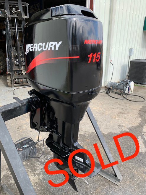 """1999 Mercury 115 HP 4 Cylinder Carbureted 2 Stroke 20"""" (L) Outboard Motor"""