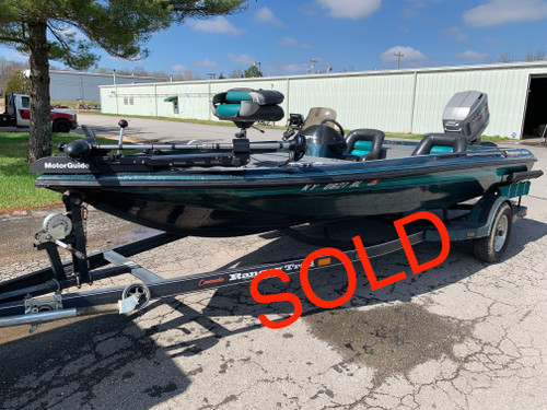 1995 Ranger Comanche 461VS 19' Fiberglass Bass Boat with 1995 Mariner 150 HP Outboard Motor and Trailer