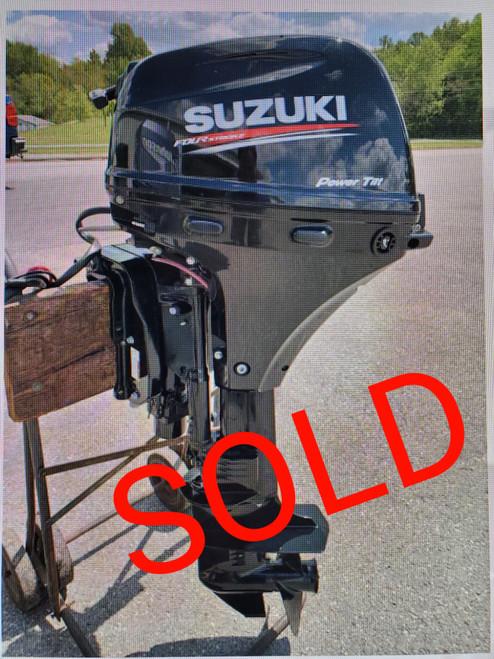 "2018 Suzuki 9.9 HP 2 Cylinder EFI 4 Stroke 25"" (X) Outboard Kicker Motor"