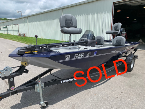 2019 Tracker Pro 170 17' Aluminum Mod-V Boat with 2019 Mercury 60/40 HP JetDrive Outboard Motor and Trailer