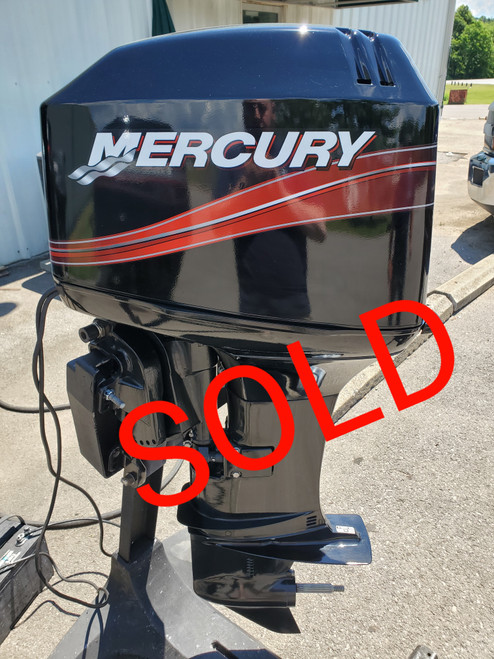 """2008 Mercury 50 HP 3 Cyl Carbureted 2-Stroke 20"""" (L) Outboard Motor"""
