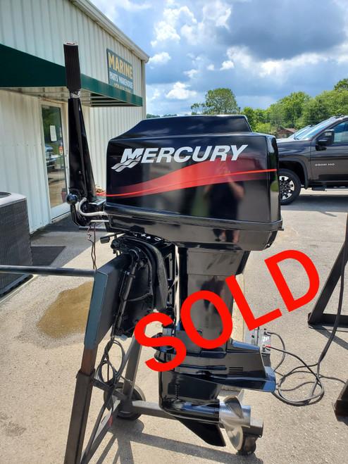 "2001 Mercury 60 HP 3-Cyl Carbureted 2-Stroke 20"" (L) Outboard Tiller Motor"
