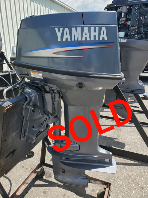 """2008 Yamaha 50 HP 3-Cyl Carbureted 2-Stroke 20"""" (L) Outboard Motor"""