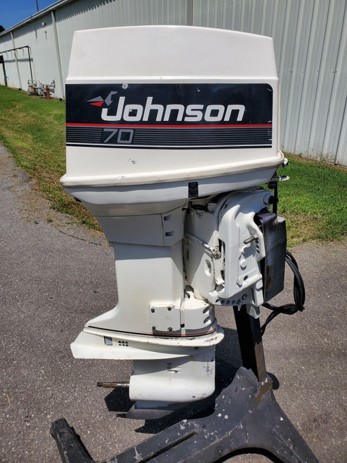 """1989 Johnson 70 HP 3-Cyl Carbureted 2-Stroke 20"""" (L) Outboard Motor"""