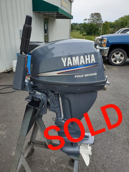 """2001 Yamaha 15 HP 2-Cyl Carbureted 4-Stroke 15"""" (Short) Tiller Outboard Motor"""