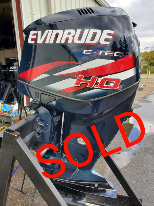 "2009 Evinrude ETEC 250 HO 6-Cyl DFI 2-Stroke 25"" (X) Outboard Motor"