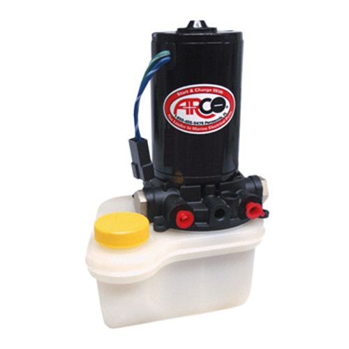 New Pre-1999 ARCO Volvo Trim Pump & Reservoir - Oildyne Flare Lines with 1 Screw Reservoir