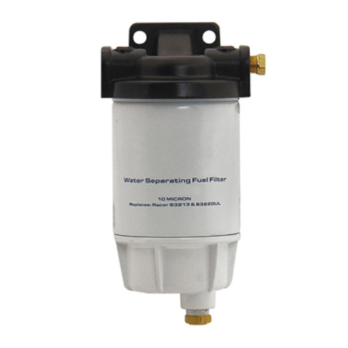 "New Pro Marine Nissan/Tohatsu Fuel Filter, Water Separator Racor Style 10 Micron w/Bracket 1/4"""