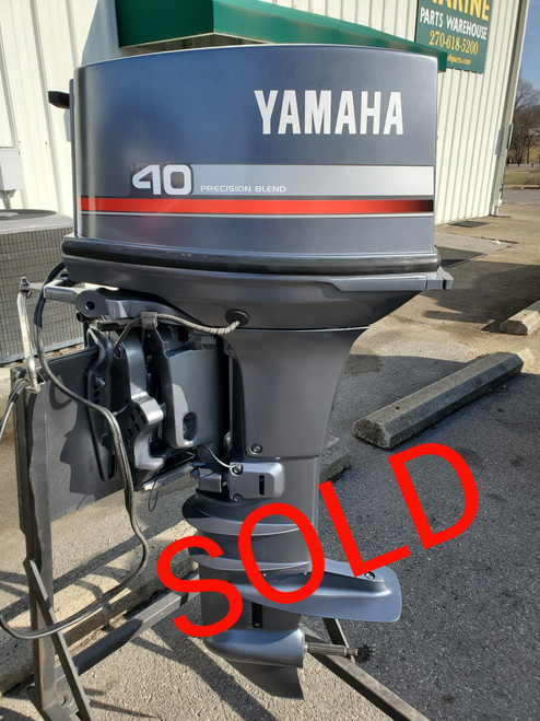 """1997 Yamaha 40 HP 2-Cyl Carbureted 2-Stroke 20"""" (L) Outboard Motor"""