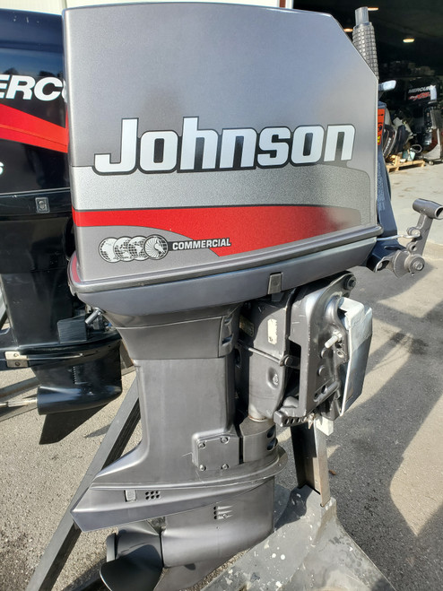 "1999 Johnson 65 HP 3-Cyl Carbureted 2-Stroke 20"" (L) Outboard Tiller Motor"