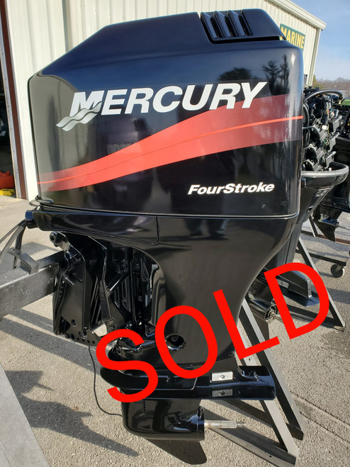 """2002 Mercury 90 HP 4-Cylinder Carbureted 4-Stroke 20"""" (L) Outboard Motor"""
