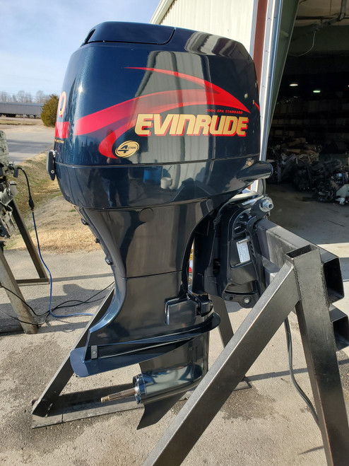 """NEW 2001 Evinrude 70 HP 4-Cylinder EFI 4-Stroke 20"""" (L) Outboard Motor"""