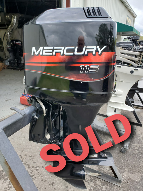 """1999 Mercury 115 HP 4-Cylinder Carbureted 2-Stroke 20""""(L) Outboard Motor"""