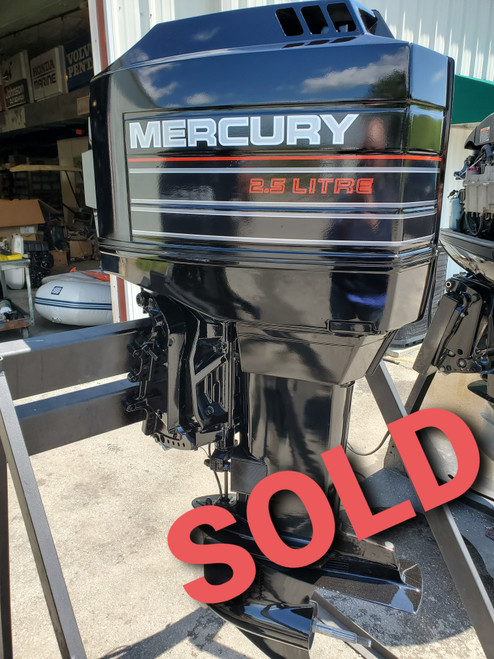 """1994 Mercury 2.5L 200 HP 6-Cyl Carbureted 2-Stroke 25"""" (X) Outboard Motor"""