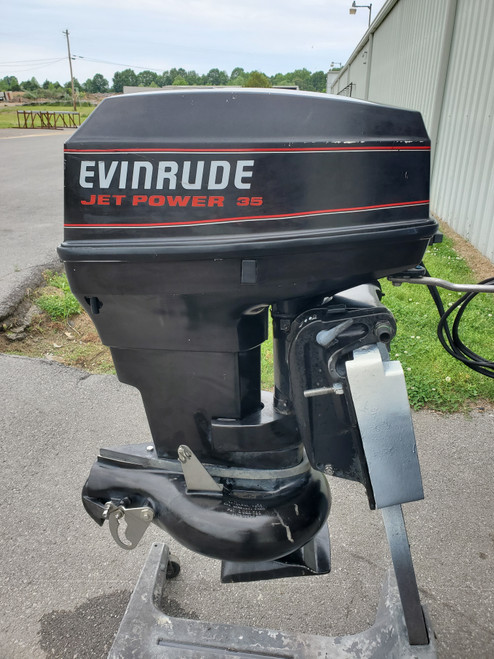 """1993 Evinrude Jet Drive 50/35 HP 2-Cyl Carbureted 2-Str 20"""" (L) Outboard Motor"""