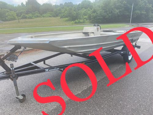 2000 Alumacraft 1648LW 16' Aluminum Jon Boat w/ Single Axel Trailer
