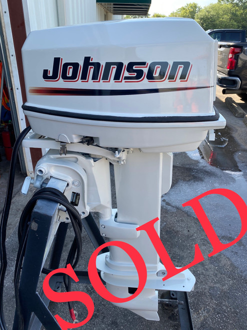 """1992 Johnson 25 HP 2-Cyl Carbureted 2-Stroke 20"""" (L) Outboard Motor"""