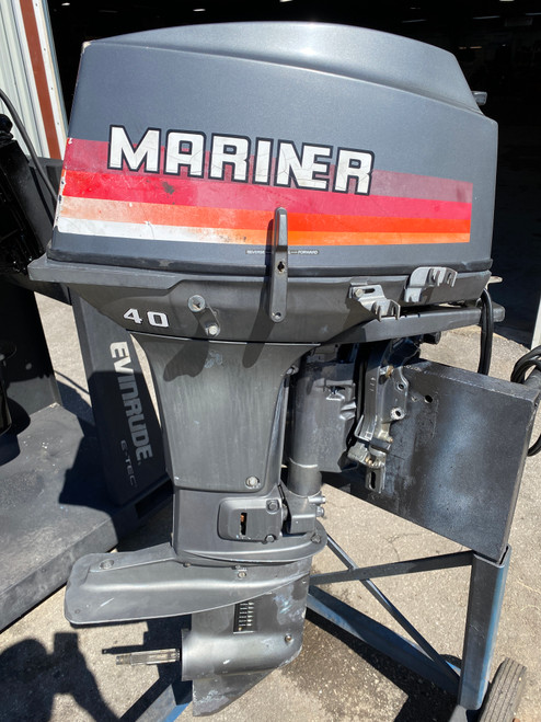 "1983 Mariner/Yamaha 40 HP 2-Cyl Carb 2-Stroke 15"" (S) Outboard Motor"