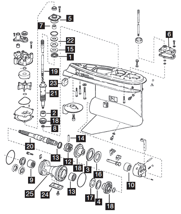 evinrude etec wiring schematics johnson evinrude 3 cylinder lower unit parts  75 90 hp  etec  2004  lower unit parts  75 90 hp  etec  2004