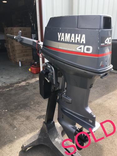 """1996 Yamaha 40 HP 3 Cylinder 2-Stroke 15"""" Tiller Outboard ..."""
