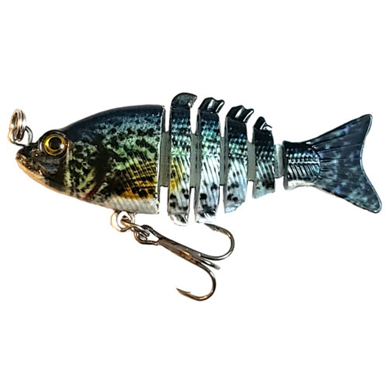 """Minnow Swim Bait 3.2/""""Jointed Fishing Lure Lowman Lures Lip Ripper"""