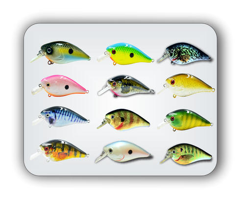 12pc RAWH-04 squarebill crankbait bundle