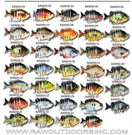 Pick any 3 RAW10 Swimbaits for only $20.00!