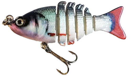 Mini 2 inch minnow swim bait - blue red shiner