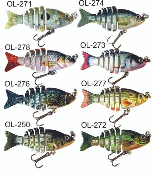 "Choose Any 5  Mini 2"" minnow swimbaits for only $30!"
