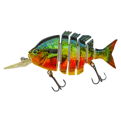 RAW10B - 4 inch Diving Bluegill Swimbait - Red Belly Perch