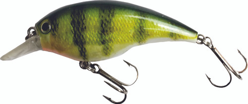 H07 2.5 inch Round Bill Crankbait - Yellow Perch