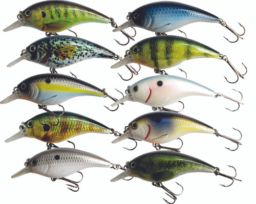 All 10 H07 2.5 inch Round Bill Crankbaits for only $30.00