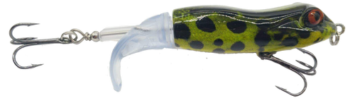 RAW Top Water Tail Spin - Green Frog with black dots