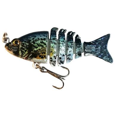 2 inch Panfish Baits Brac/'s Baits June Bug Blue /& Holographic Slab Assassin 2
