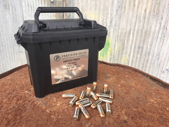 40S&W 180gr. FMJ-LONG-Remanufactured MATCH PACK