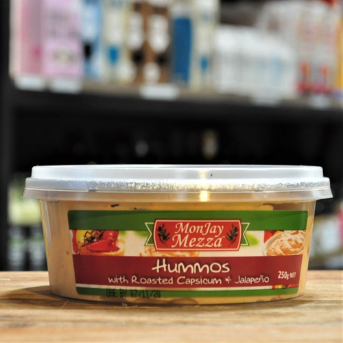 Hummos Dip with Roasted Capsicum & Jalapeno