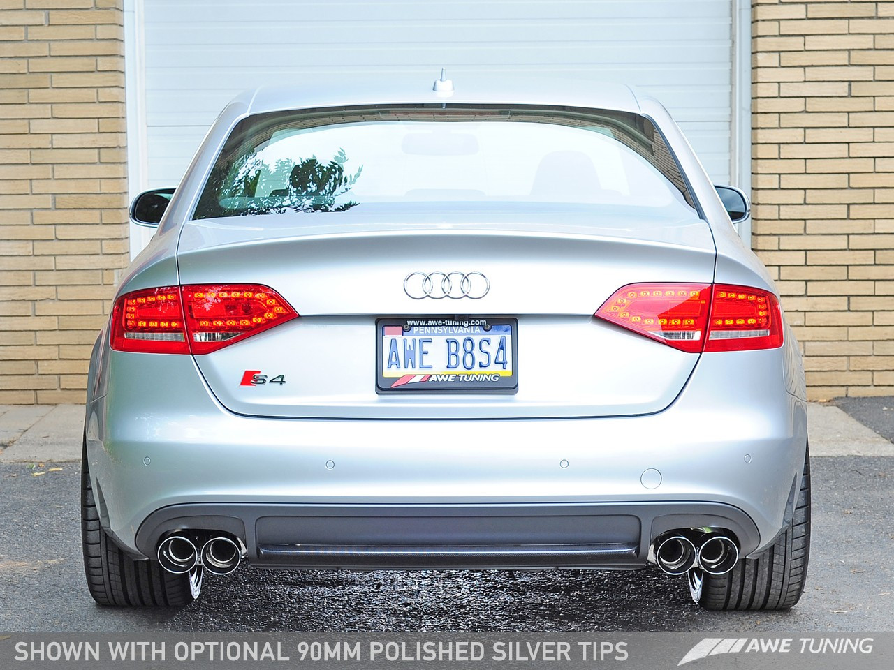 AWE TUNING AUDI B8 S4 TOURING EDITION EXHAUST - Chrome SilverTailpipes