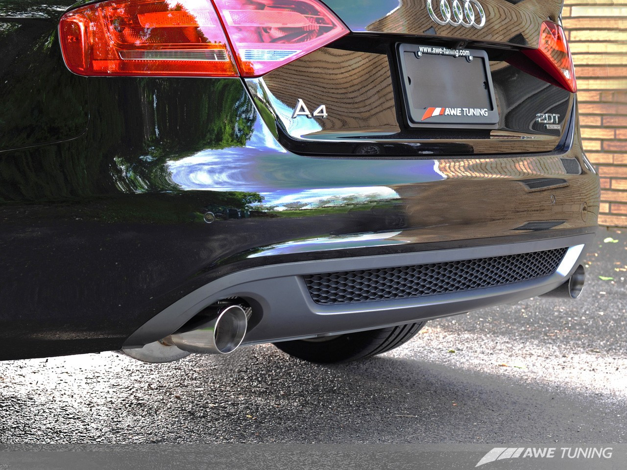 AWE Tuning A4 B8.5 2.0TFSI Touring Edition Exhaust - Dual Tailpipes