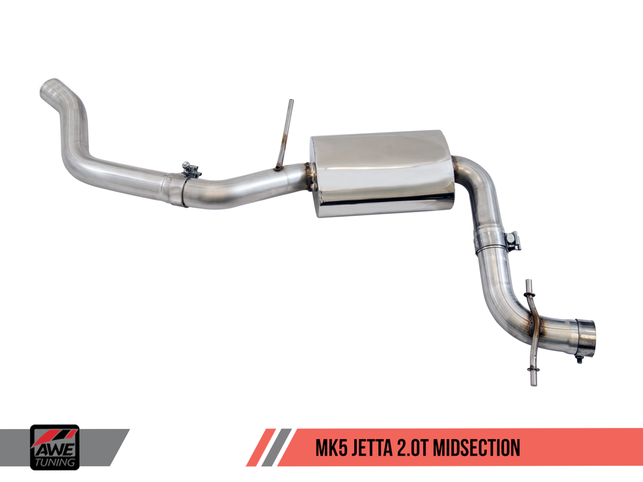 AWE Tuning Jetta Mk5 2.0T Track Edition Exhaust - Centre Section
