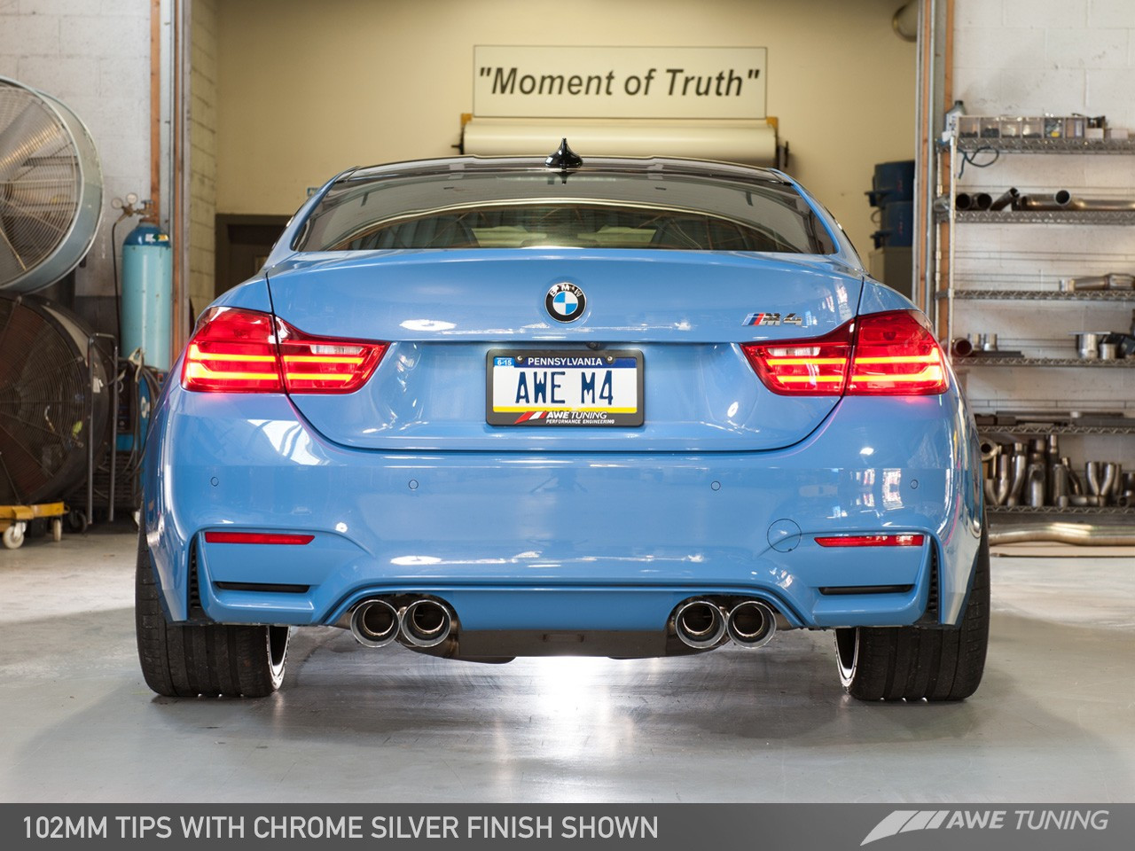 AWE Tuning BMW F8x M4 SwitchPath Exhaust System - 102mm Chrome Silver Tailpipes