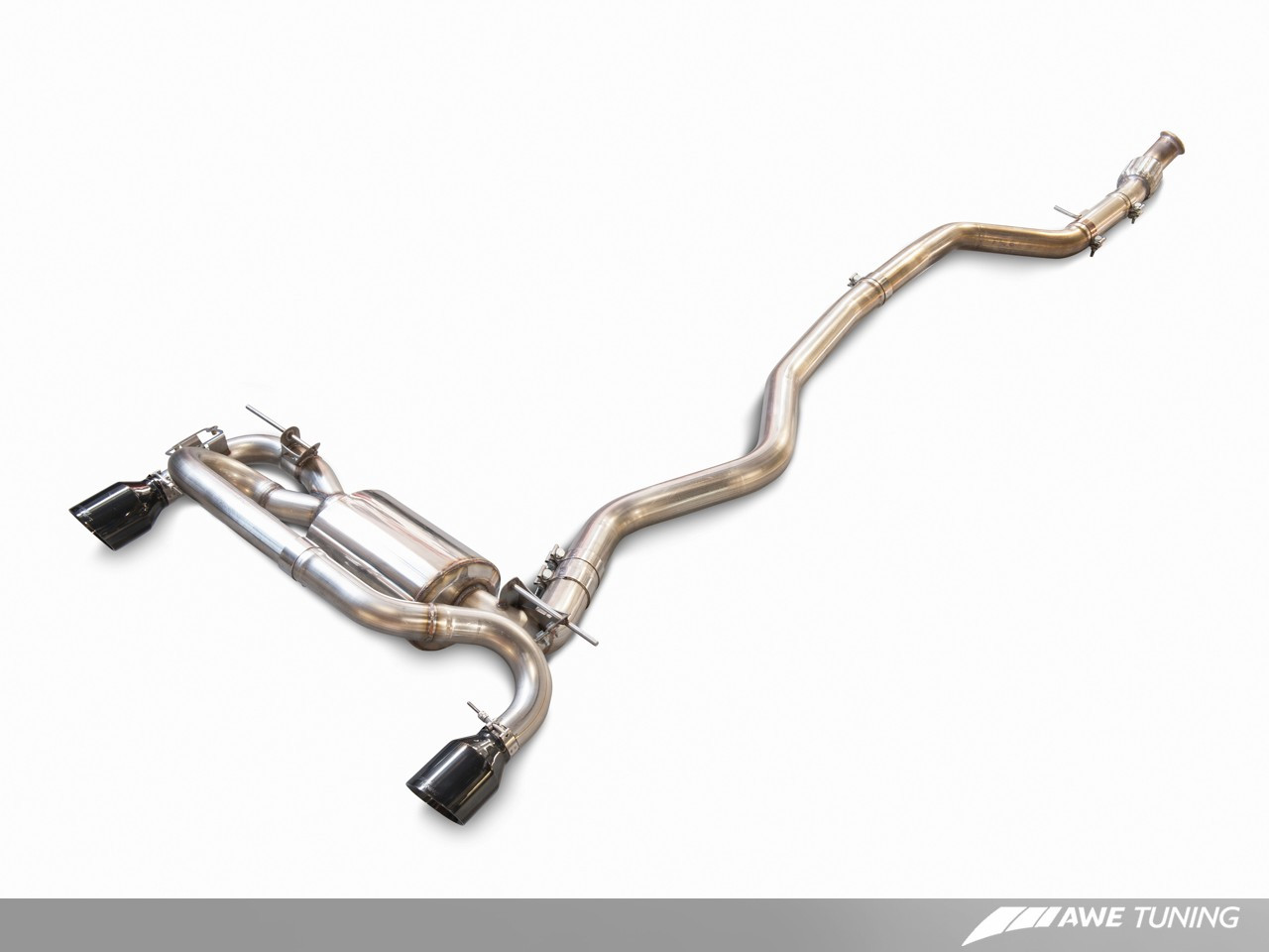 AWE Tuning BMW F3x 335i Touring Edition Exhaust - Shown with Optional Extra Performance Mid-Pipe